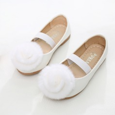 Girl's Round Toe Leatherette Flat Heel Flats Flower Girl Shoes