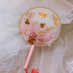 Silk Flower Wedding Fans