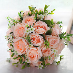 Round Cloth Bridal Bouquets -