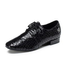 Men's Real Leather Flats Modern Dance Shoes