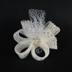 Gorgeous Tulle Fascinators With Rhinestone