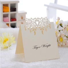 Heart Design Pearl Paper Place Cards  (More Colors)