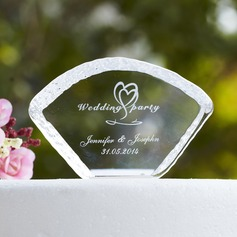 Personalized Swan Design Crystal Cake Topper