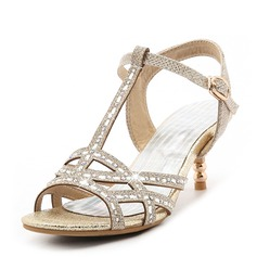 Women's Leatherette Stiletto Heel Peep Toe Pumps Sandals With Sequin