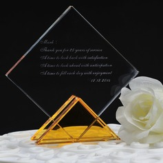 Personalized Rhombus Crystal Cake Topper