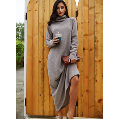 High Neck Long Sleeves Maxi Dresses (294252940)