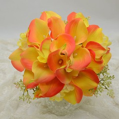 Fancy Round Simulation PU Materials Bridesmaid Bouquets