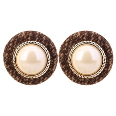 Nice Alloy Imitation Pearls Cloth With Imitation Pearl Women's Fashion Earrings (Set of 2)