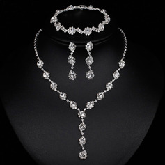 Ladies' Pretty Alloy/Rhinestones Jewelry Sets (011253762)