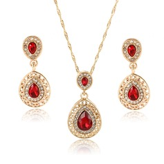 Exquisite Alloy/Rhinestones/Glass With Rhinestone Ladies' Jewelry Sets