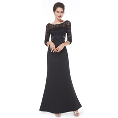Lace/Satin/Tulle With Lace/Stitching Maxi Dress (199090611)