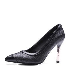 Kvinnor Konstläder Stilettklack Pumps Stängt Toe med Andra skor