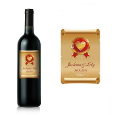 Personalized Classic Bottle Stickers/Bottle Labels  (052062376)