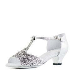 Sparkling Glitter Sandals Latin Dance Shoes