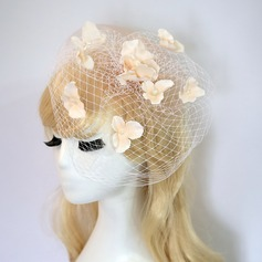 Ladies' Beautiful/Lovely Net Yarn/Silk Flower With Silk Flower Fascinators