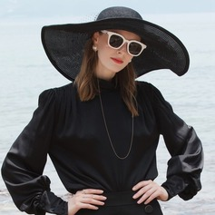 Ladies' Simple/Nice Pp With Tulle Beach/Sun Hats