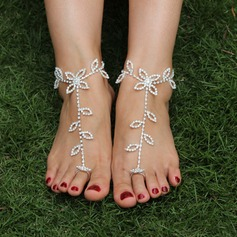 Rhinestone Alloy Foot Jewellery Accessories