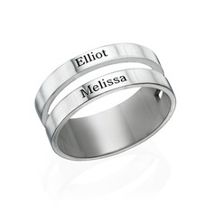 Personalized Men's Chic S925 Sliver Rings For Bride/For Friends/For Couple