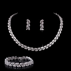 Beautiful Zircon Ladies' Jewelry Sets (011110529)