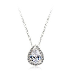 Beautiful Zircon/Platinum Plated Ladies' Necklaces