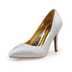 Women's Sparkling Glitter Pumps Closed Toe shoes
