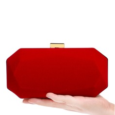 Elegant Leather Cashmere Clutches