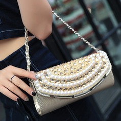 Refined Crystal/ Rhinestone/PU Clutches
