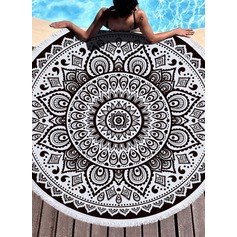 Retro/Vintage/Gradient color Oversized/round Beach towel (204167514)