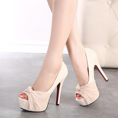 Women's Leatherette Stiletto Heel Peep Toe Platform Pumps Sandals (047108993)