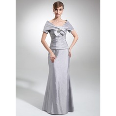 Trumpet/Mermaid Strapless Floor-Length Taffeta Mother of the Bride Dress With Ruffle