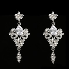 Fashional Alloy Rhinestones With Rhinestone Ladies' Fashion Earrings