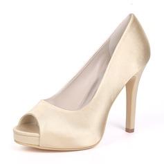 Женщины шелка как атласное Высокий тонкий каблук Платформа На каблуках с Другие