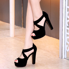 Women's Stiletto Heel Sandals Platform Peep Toe shoes (085244469)