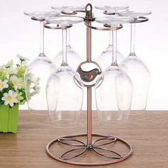 Wine Rack Iron Simple Clear Table Centerpieces