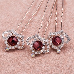 Amazing Crystal/Rhinestone/Alloy Hairpins (Set of 6)