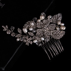 Ladies Beautiful Rhinestone/Alloy/Imitation Pearls Combs & Barrettes