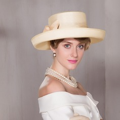 Ladies' Glamourous Cambric Bowler/Cloche Hat/Kentucky Derby Hats
