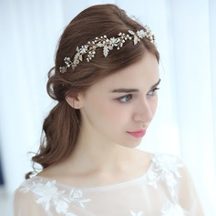 Ladies Beautiful Alloy Headbands With Venetian Pearl (Sold in single piece)