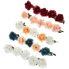 Pretty Silk Flower/Hide Rope Headdress Flower