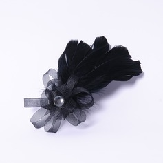 Elegant Rhinestone/Fjær Fascinators