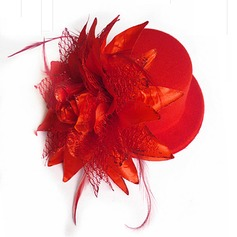 Ladies Beautiful Feather/Silk Flower Hats