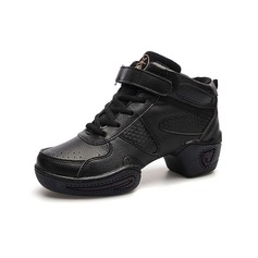 Women's Real Leather Cloth Sneakers Practice Dance Shoes