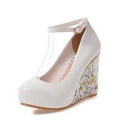 المرأة بو كعب ويدج مضخات منصة تو مغلقة أسافين مع مشبك أحذية (116150468)