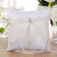 Beautiful Ring Pillow in Cloth With Ribbons/Rhinestones/Lace