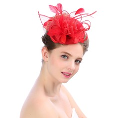 Ladies' Glamourous/Elegant/Unique Tulle With Feather Fascinators