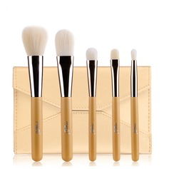 Artificial Fibre Basic 5Pcs Gold Pouch Makeup Supply