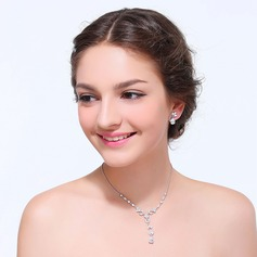 Shining Zircon With Cubic Zirconia Ladies' Jewelry Sets