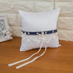 Lovely Ring Pillow in Satin With Ribbons/Flowers