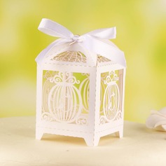 Birdcage Shape Favor Boxes With Ribbons
