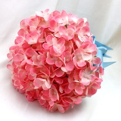 Lovely Round Satin/Silk Bridal Bouquets/Bridesmaid Bouquets -